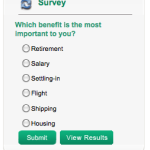 New survey: Which benefit is the most important to you??