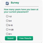 New survey: How many years have you been at your current placement?