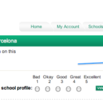 International School Community website feature: Bookmark a school profile function