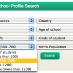 Using the School Profile Search feature on International School Community: Search Result #5