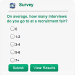 New Survey: On average, how many interviews do you go to at a recruitment fair?