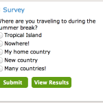 New Survey: Where are you traveling during the summer break?