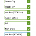 Using the School Profile Search feature #16: Check out which schools met the criteria!