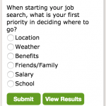 New Survey: When starting your job search, what is your first priority in deciding where to go?