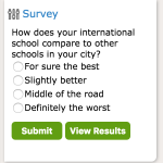 New Survey: How does your international school compare to other schools in your city?