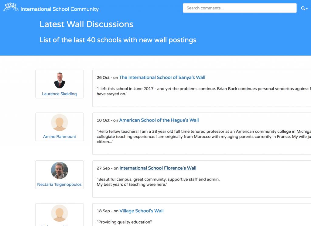 school wall