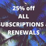 19000 Members Milestone: 25% off Premium Subscriptions!